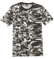Custom Mens Perfect Weight Camo Crew Neck T-shirt Mens
