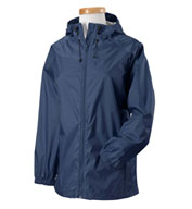 Custom Ladies Waterproof and  Packable, Nylon Rip-Stop Rain Jacket