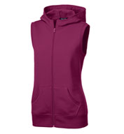 Custom Ladies Hooded Fleece Vest