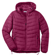 Custom Ladies Puffy Hooded Jacket