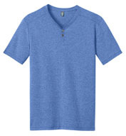 Custom Mens Tri-Blend Short Sleeve Henley Tee Mens