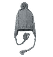 Custom District ® Cabled Beanie with Pom