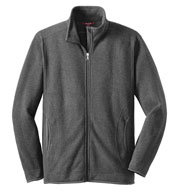 Custom Mens Sweater Fleece Full-Zip Jacket