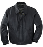 Custom Port Authority® Leather Bomber Jacket Mens