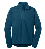 Custom Eddie Bauer® Mens Quarter Zip Grid Fleece Pullover