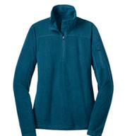 Custom Eddie Bauer® Womens Quarter Zip Grid Fleece Pullover