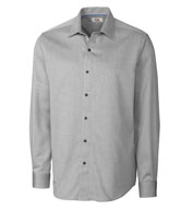 Custom Big and Tall Easy Care Mini Herringbone Dress Shirt Mens