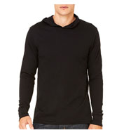 Custom Mens Thermal Long Sleeve Henley Hoodie Mens