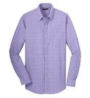 Custom Mens Windowpane Dress Shirt Mens
