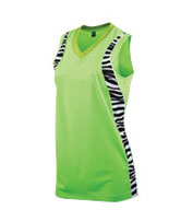Custom Girls Zebra Racerback Jersey
