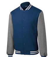 Custom Mens Fleece Letterman Jacket Mens