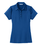 Custom Ladies Fine Stripe Performance Polo