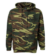 Custom Camouflage Hooded Sweatshirt