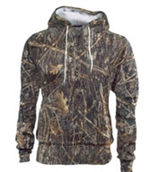 Custom Performance Camo Fleece Sweatshirt Mens