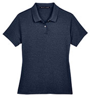 Custom Ladies Pima-Tech� Jet Pique Heathered Polo