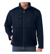 Custom Mens Quilted Fleece Jacket Mens