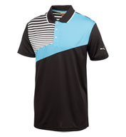 Custom Puma Colorblock Stripe Tech Shortsleeve Polo Mens