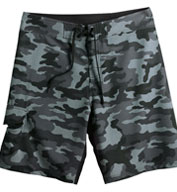 Custom Camo-Diamond Dobby Board Shorts Mens