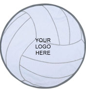 Custom Volleyball Shaped Towel