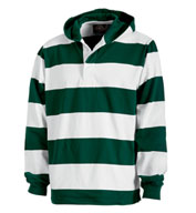 Custom Hooded Rugby Pullover