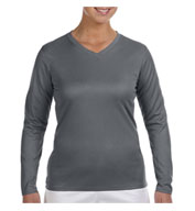 Custom New Balance Ladies Ndurance® Athletic Long-Sleeve V-Neck T-shirt