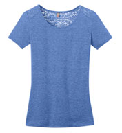 Custom Ladies Tri-Blend Lace Tee