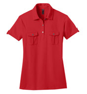 Custom Ladies Jersey Double Pocket Polo