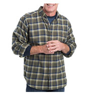 Custom Mens Trout Run Plaid Flannel Shirt Mens