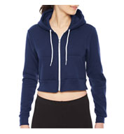 Custom American Apparel Cropped Fleece Zip Hoodie