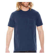 Custom Pigment Dyed Mens Pocket T-Shirt
