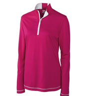 Custom Ladies CB DryTec� Choice Zip Mock in Plus sizes