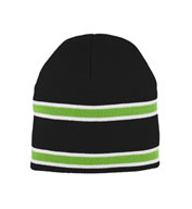 Custom Striped Knit Beanie in Team Colors