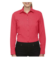 Custom North End Central Ave Ladies Melange Performance Dress Shirt