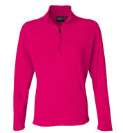 Custom Fusion Ladies Quarter-Zip Nano Fleece Pullover