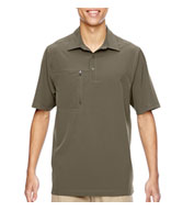 Custom Mens Excursion Crosscheck Performance Woven Polo Mens