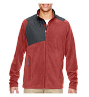 Custom Mens Excursion Trail Fabric-Block Fleece Jacket Mens