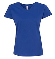 Custom Ladies Fine Jersey V-Neck T-Shirt