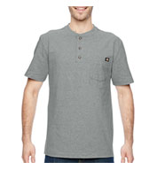 Custom Dickies Heavyweight Work Henley Mens