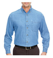 Custom Mens Long Sleeve Denim Shirt Mens