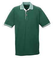 Custom Colored Polo Shirt w/ Multi-Striped Trim Mens