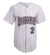 Custom Adult Pro Style Pinstripe 6 Button Front Jersey Mens