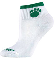 Custom Womens Paw Print Style Cheer Socks