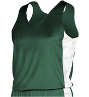 Custom Womens Tricot Side Panel Singlet